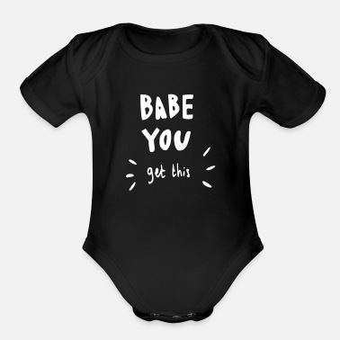 Lovestruck babe you get this - Organic Short-Sleeved Baby Bodysuit