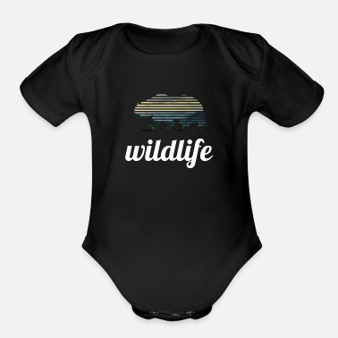 Wildlife wildlife - Organic Short-Sleeved Baby Bodysuit