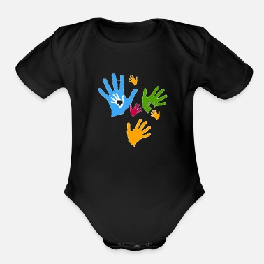 Care Care child care community - Organic Short-Sleeved Baby Bodysuit