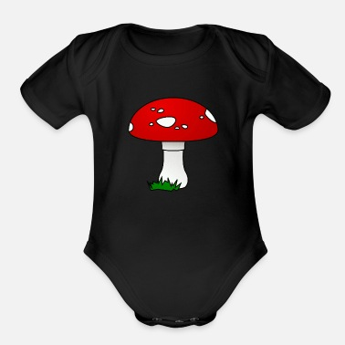 Fly Agaric fly agaric - Organic Short-Sleeved Baby Bodysuit