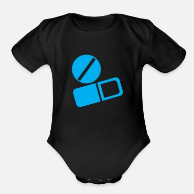 Tablet tablets and capsules - Organic Short-Sleeved Baby Bodysuit