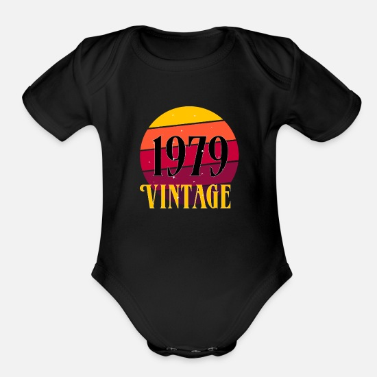Love Baby Clothing - vintage - Organic Short-Sleeved Baby Bodysuit black