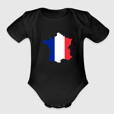 borders - Organic Short Sleeve Baby Bodysuit