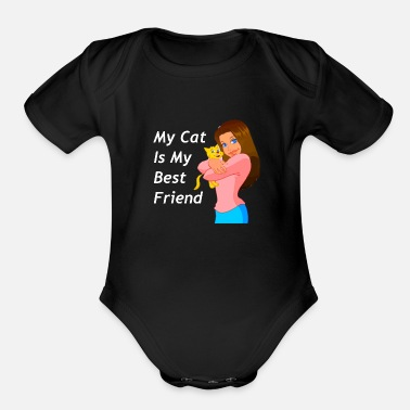 Cat Lady Cat Lady - Organic Short-Sleeved Baby Bodysuit