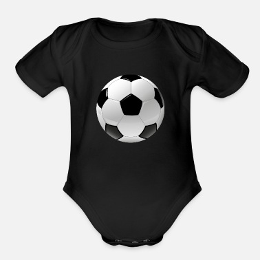 Ball Sport football realistic ball sport - Organic Short Sleeve Baby Bodysuit