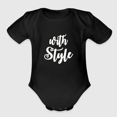 With Style - Organic Short Sleeve Baby Bodysuit