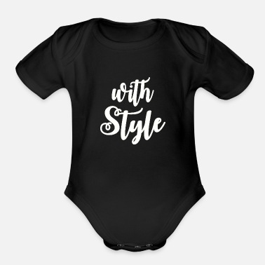 Style With Style - Organic Short Sleeve Baby Bodysuit