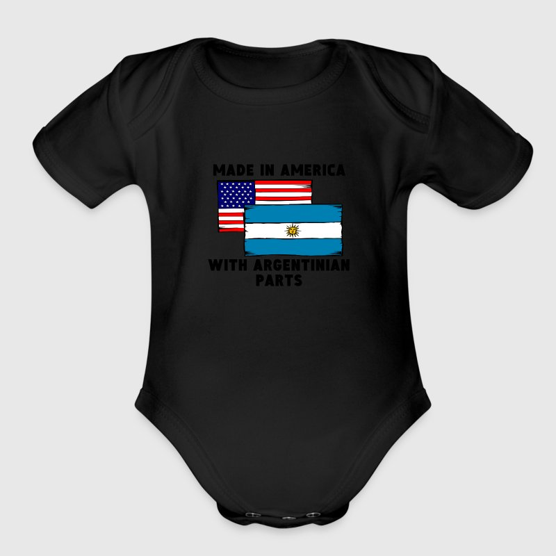 Made In America With Argentinian Parts - Organic Short Sleeve Baby Bodysuit