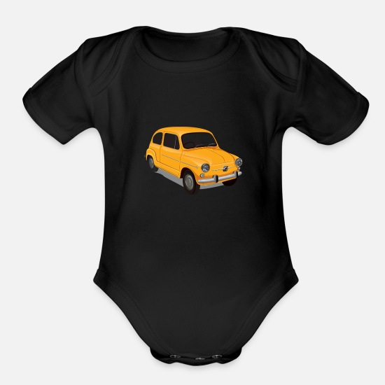 Car Baby Clothing - Car - Organic Short-Sleeved Baby Bodysuit black