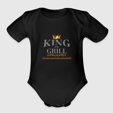 king of grill - Organic Short Sleeve Baby Bodysuit