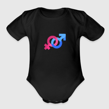 Marriage Love Man Woman Gift Idea Gender - Organic Short Sleeve Baby Bodysuit