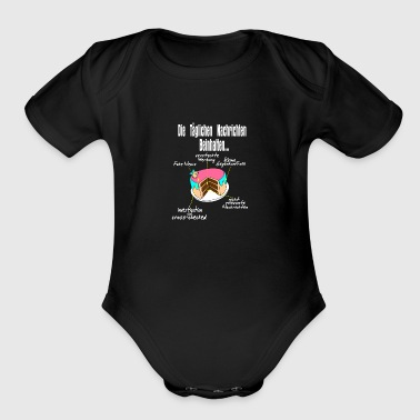 Tlc what news contain, gift idea present - Organic Short Sleeve Baby Bodysuit