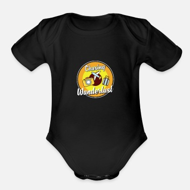 Flight Travel Wanderlust Gift - Organic Short-Sleeved Baby Bodysuit
