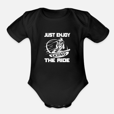 Awesome Time Skiing - Organic Short-Sleeved Baby Bodysuit