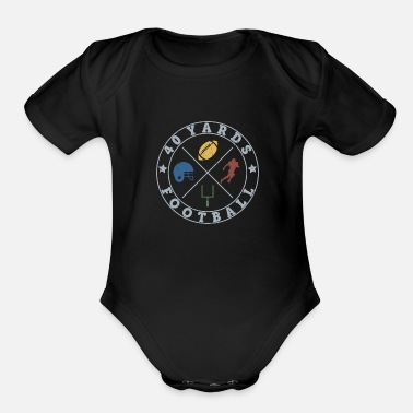 Running Team Yards Football Gift American Player - Organic Short-Sleeved Baby Bodysuit