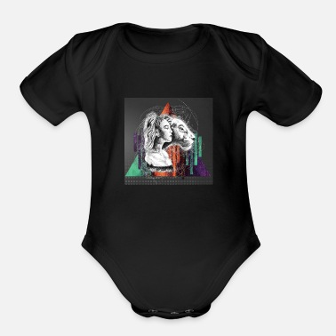 Fallen King THE LILY AND THE LION - Organic Short-Sleeved Baby Bodysuit