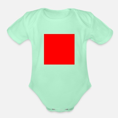 Square square - Organic Short-Sleeved Baby Bodysuit