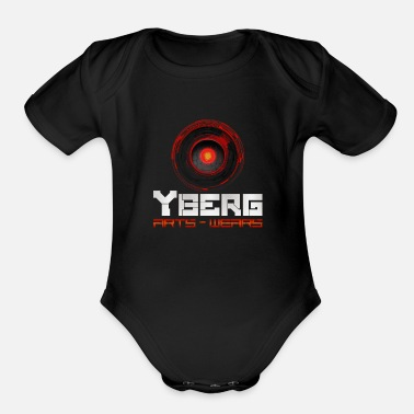 Robot Yberg - Arts and Wears Logo for Geeks and Nerds - Organic Short Sleeve Baby Bodysuit