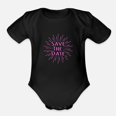 Date Save the date - Organic Short-Sleeved Baby Bodysuit