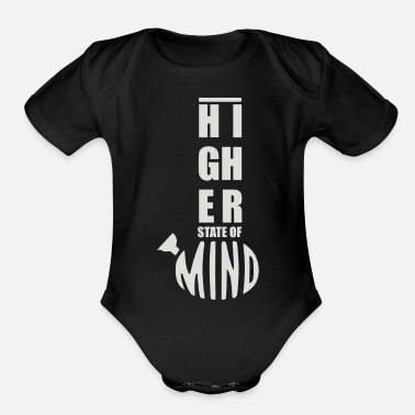 Higher State Of Higher State of Mind - Organic Short-Sleeved Baby Bodysuit