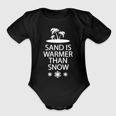 Sand and snow - Organic Short Sleeve Baby Bodysuit