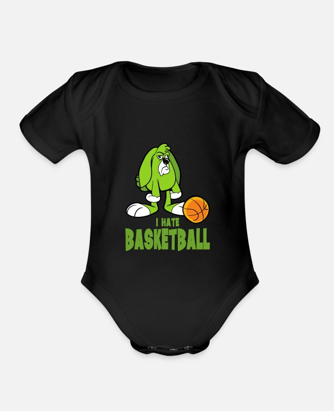 Ball Baby One Pieces - Basketball Player Team Game - Organic Short-Sleeved Baby Bodysuit black