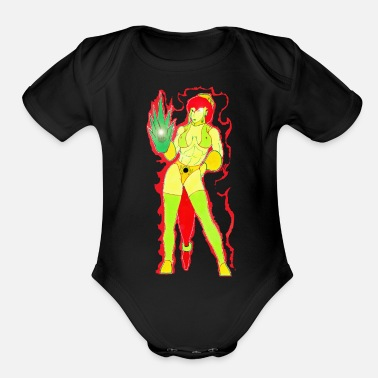 Shiva Lady-General Shiva of Camden - Organic Short-Sleeved Baby Bodysuit
