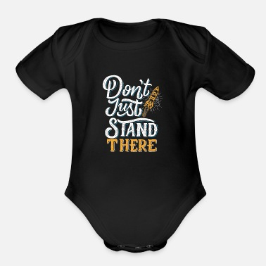 Stand stand there - Organic Short Sleeve Baby Bodysuit