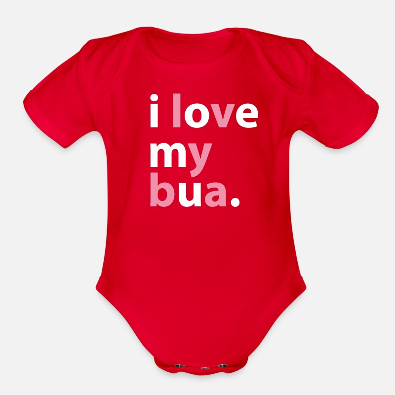 004db65fa Desi Baby Bodysuit - I love my bua Organic Short-Sleeved Baby ...