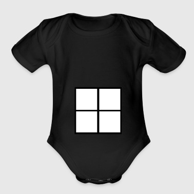 Window  - Organic Short Sleeve Baby Bodysuit