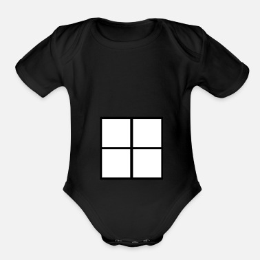Windows Window  - Organic Short-Sleeved Baby Bodysuit