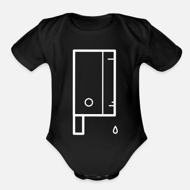 Undead Halloween Knief - Organic Short-Sleeved Baby Bodysuit