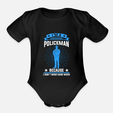 Police Inspector Policeman Police Inspector Gift - Organic Short-Sleeved Baby Bodysuit
