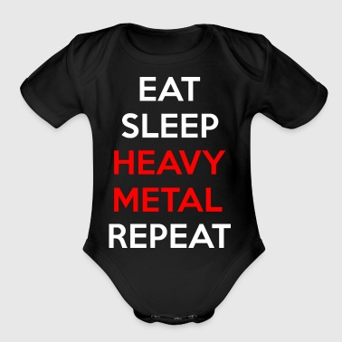 Heavy Metal Music - Organic Short Sleeve Baby Bodysuit