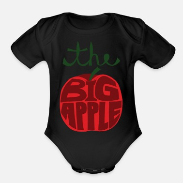 Big Apple  the big apple - Organic Short Sleeve Baby Bodysuit