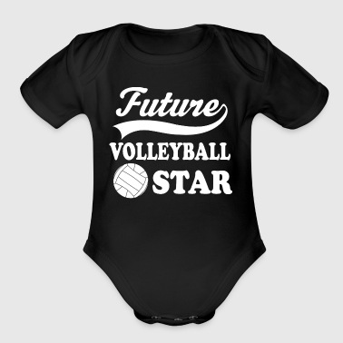 Volleyball Player Future - Organic Short Sleeve Baby Bodysuit