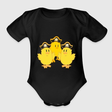 Pirate, pirate, pirate ship - Organic Short Sleeve Baby Bodysuit