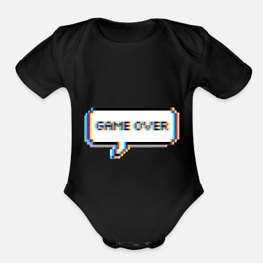 Game Over GAME IS OVER - Organic Short Sleeve Baby Bodysuit