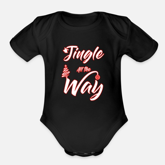 Stag Baby Clothing - Christmas Bithday B-Day bday BDay X-Mas XMAS xmas - Organic Short-Sleeved Baby Bodysuit black