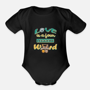 cat dog pet animal SALE - Organic Short-Sleeved Baby Bodysuit