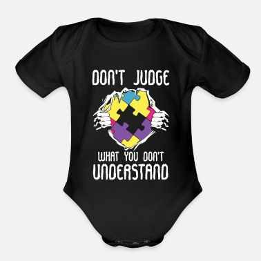 Hear Autism LFA Autist HFA Syndrome AS Asperger - Organic Short-Sleeved Baby Bodysuit