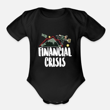 Dollar Financial Crisis Capitalist Gift - Organic Short-Sleeved Baby Bodysuit