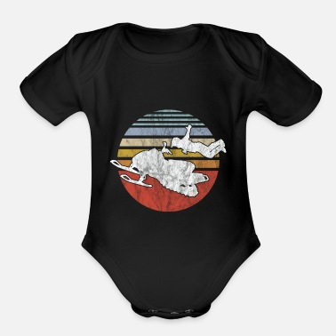 Winter Snowmobile Vintage Winter Sports Game Snow Gift - Organic Short-Sleeved Baby Bodysuit