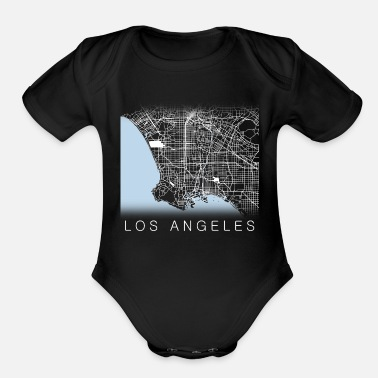 Los Angeles Streets - Organic Short-Sleeved Baby Bodysuit
