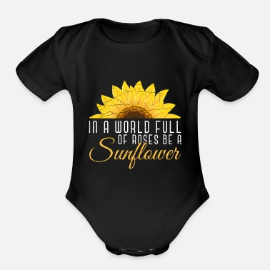 Sunflowers Sunflower - Organic Short-Sleeved Baby Bodysuit