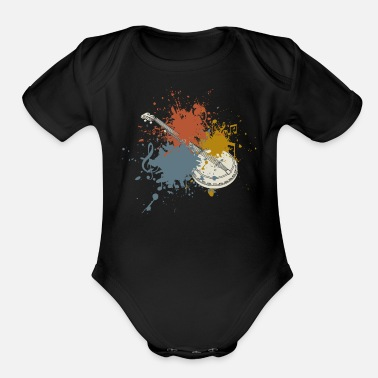 Countrymusic Vintage Banjo Countrymusic - Organic Short-Sleeved Baby Bodysuit