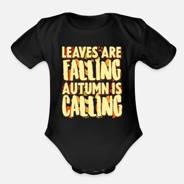 Fall Fall - Organic Short-Sleeved Baby Bodysuit