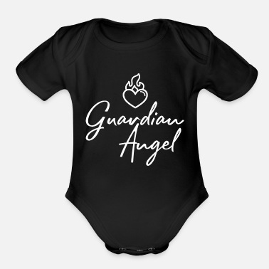 Story Guardian Guardian Angel Word 4 - Organic Short Sleeve Baby Bodysuit