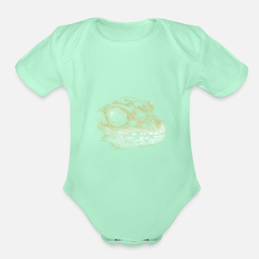 Leopard Leopard Gecko Lizard Drawing Reptile Artwork Gift - Organic Short-Sleeved Baby Bodysuit