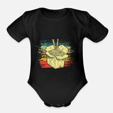 Noodles Asian Noodles - Organic Short-Sleeved Baby Bodysuit
